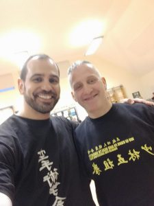 Shidoin Fernando Mahamud with Sifu Matthew Scott